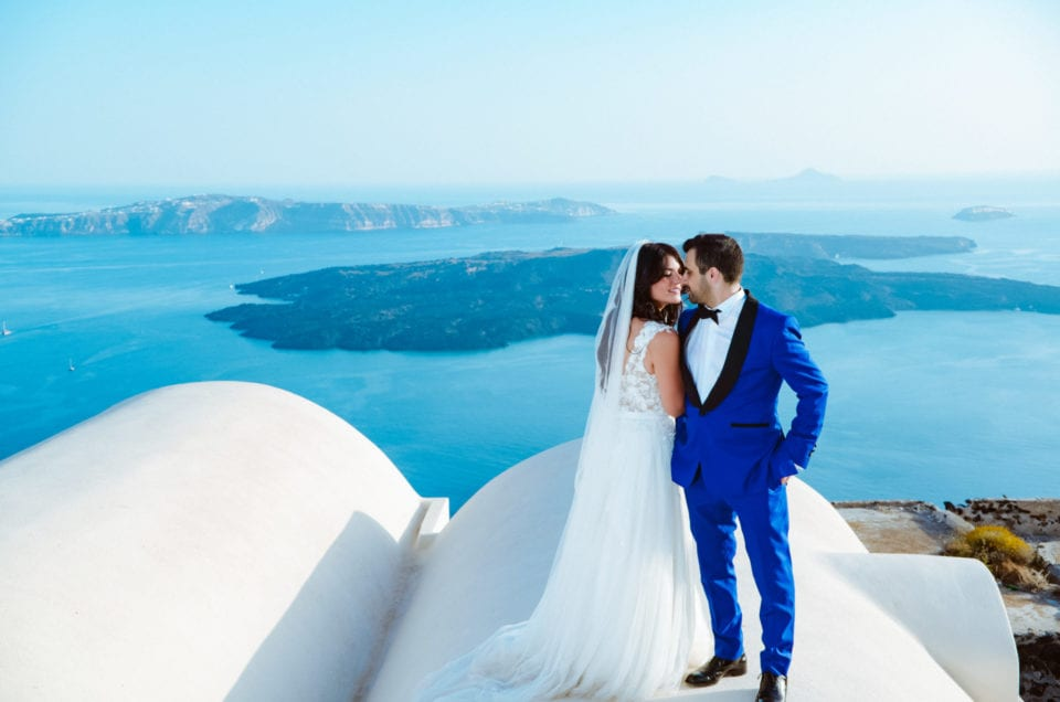 Giorgos & Eleni – Wedding in Chios – Photoshoot in Santorini